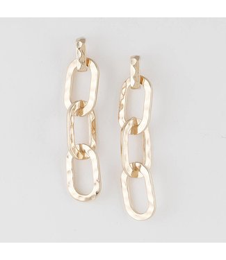 Natty Grace Harley Hammered Chain Drop Earrings