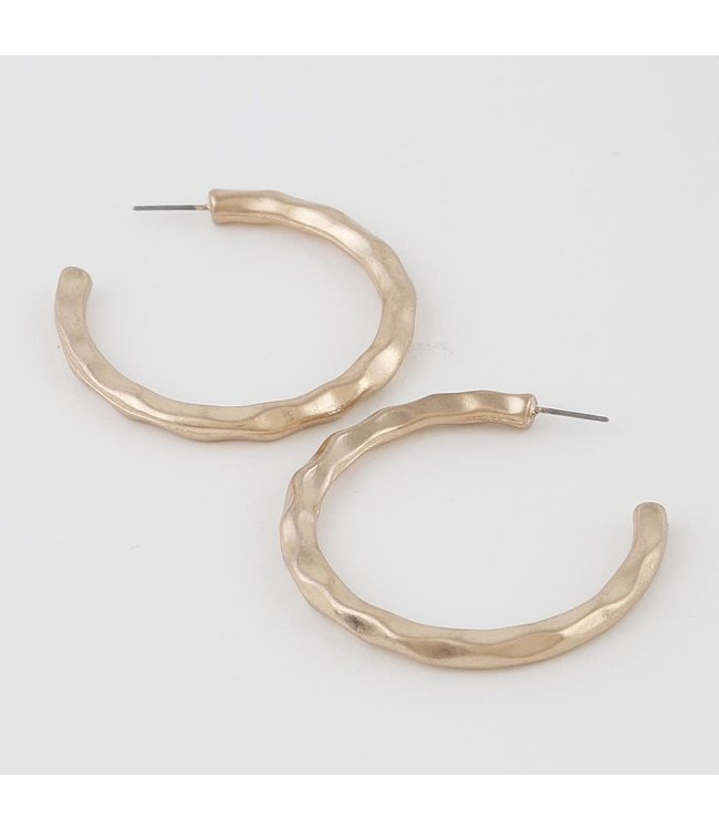 Natty Grace Hattie Hammered Hoops