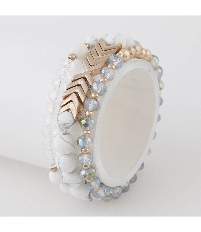 Natty Grace Beatrice 3 in 1 Beaded Bracelet Set