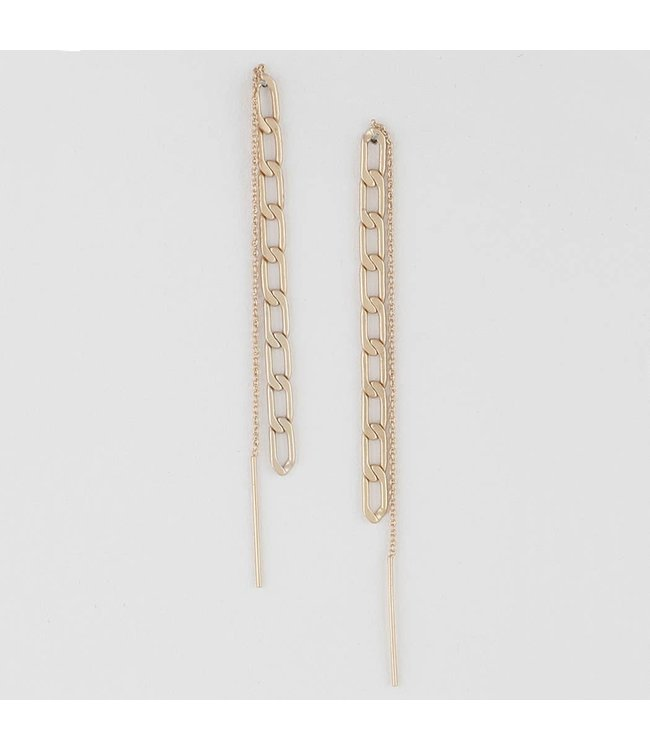 Natty Grace Mattie Double Link Chain Drop Earrings