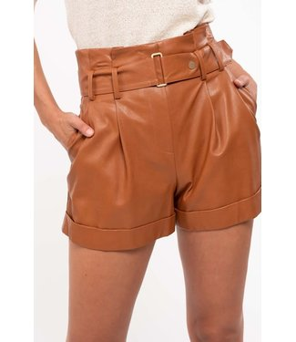 Natty Grace Fall's Finest Faux Leather Shorts