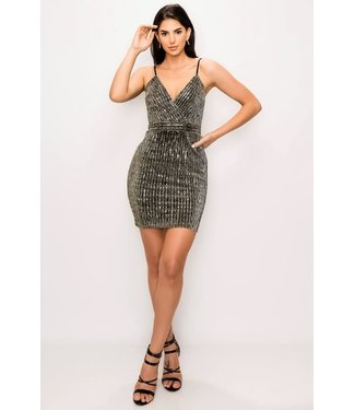 Natty Grace Call Me Sparkle Sequin Dress