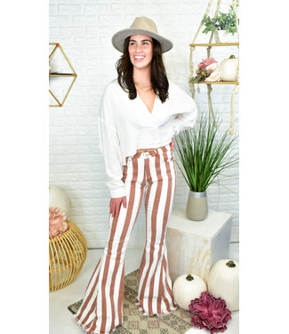 Natty Grace Stripe The Town Flares