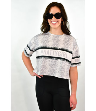 Natty Grace NG Original NattyGirl Snake Cropped Tee