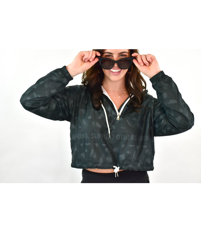 Natty Grace NG Original Be Kind Cropped Windbreaker Dark
