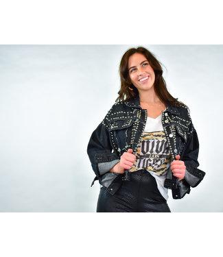 Natty Grace Own It Studded Statement Denim Jacket