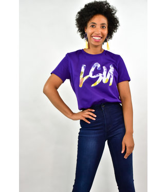 Natty Grace Original NG Originals LSU Tie dye Tee