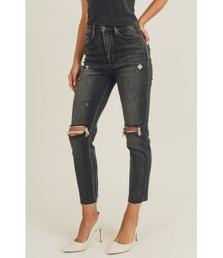 Natty Grace Riley Relaxed Fit Skinny Ripped Jeans
