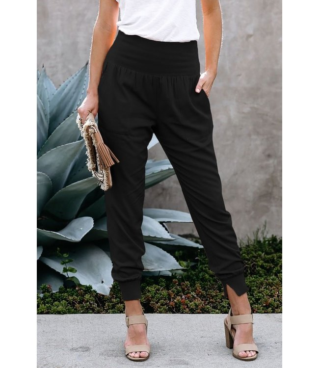 Natty Grace Josslyn Tapered Side Slit Joggers