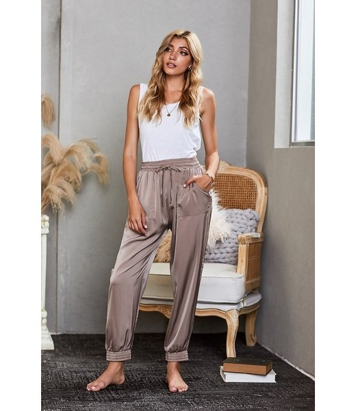 Natty Grace Josie Satin Relaxed Fit Joggers
