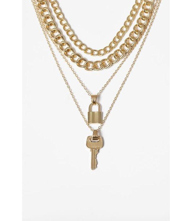 Natty Grace Key To My Heart Layered Necklace