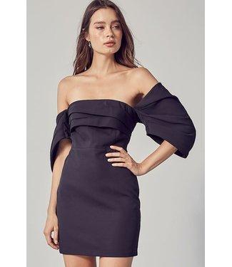 Natty Grace Miss LBD Off Shoulder Fitted Dress