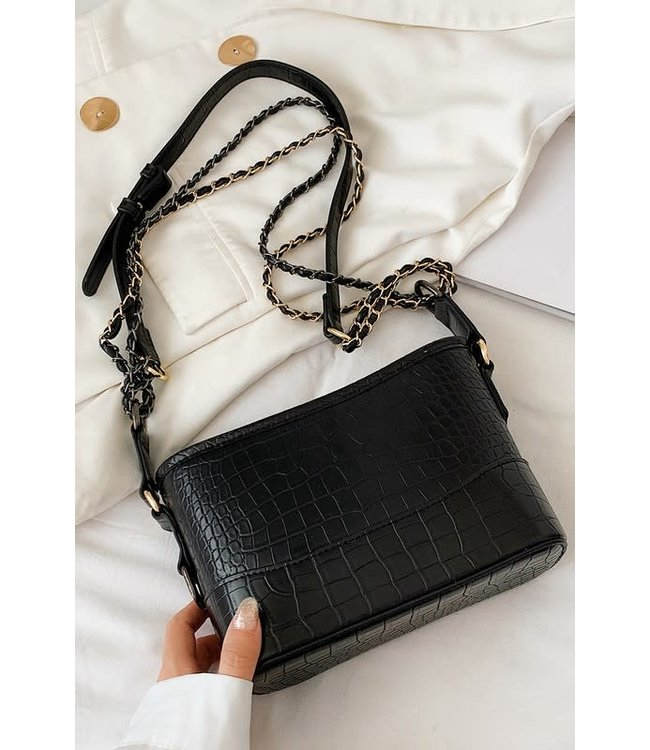 Natty Grace Not So Plain Jane Crocodile Crossbody Bag