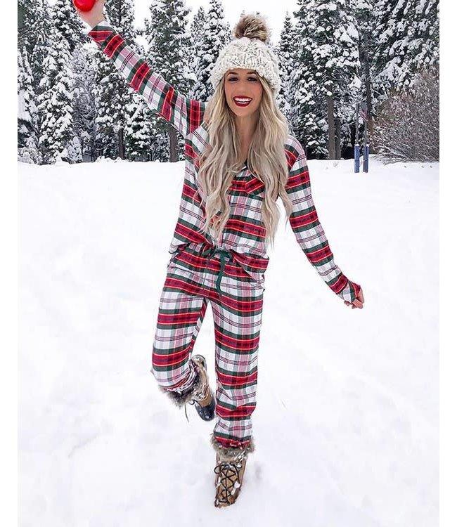 Natty Grace Holly Jolly Plaid Pajama Set