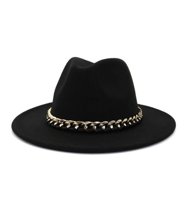 Natty Grace Chained To The Rhythm Belted Detail Hat