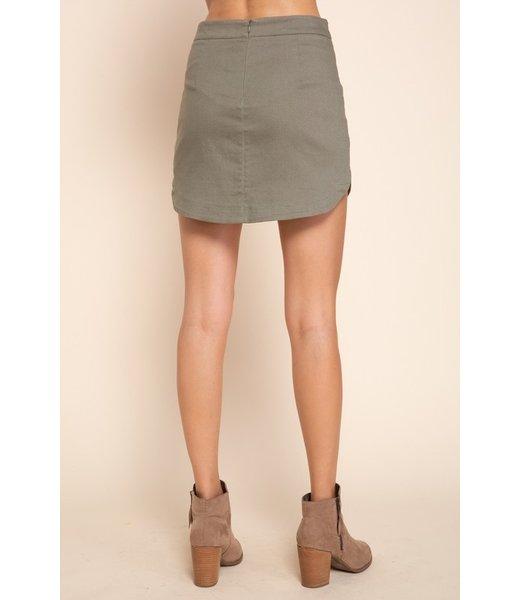 Natty Grace Hope Hi Lo Twill Skirt