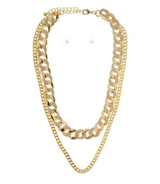 Natty Grace Double Drip Multi Layer Necklace