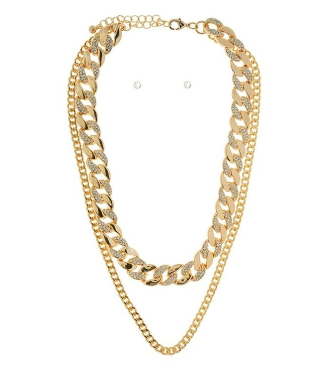Natty Grace Double Drip Multi Layer Necklace