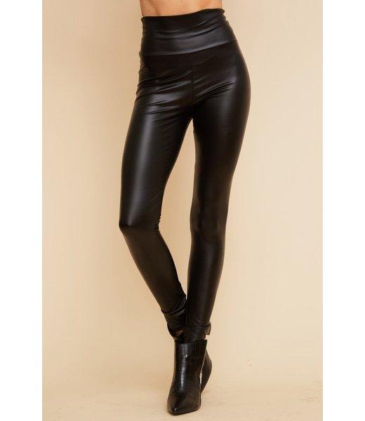 Natty Grace Laurel Faux Leather High Waist Leggings