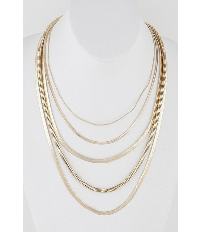 Natty Grace Symphony Snake Chain Layered Necklace
