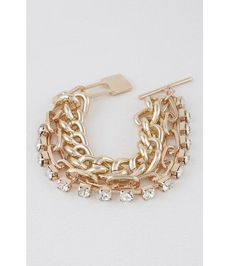 Natty Grace Cassie Chain Link 3 Layer Bracelet