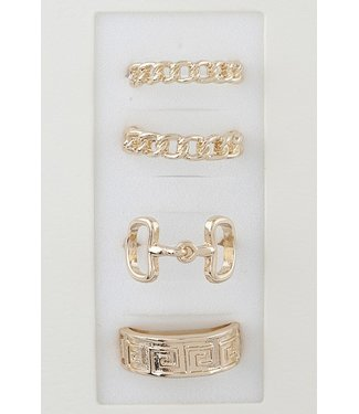 Natty Grace Bling Ring Statement Set