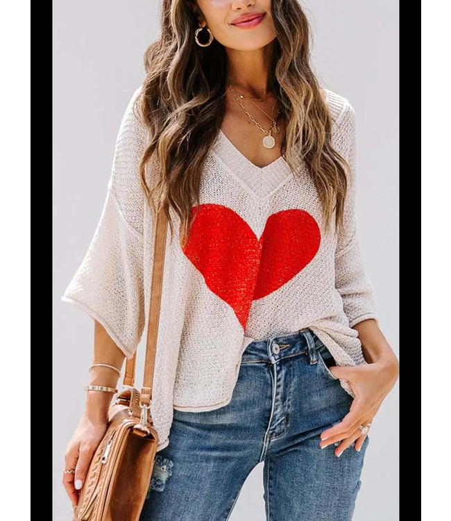 Natty Grace Give Me Your Heart Knit Top
