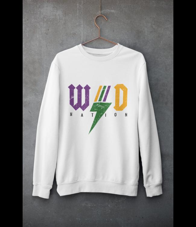 Natty Grace Original WD Nation Mardi Gras Rocker Unisex Sweatshirt