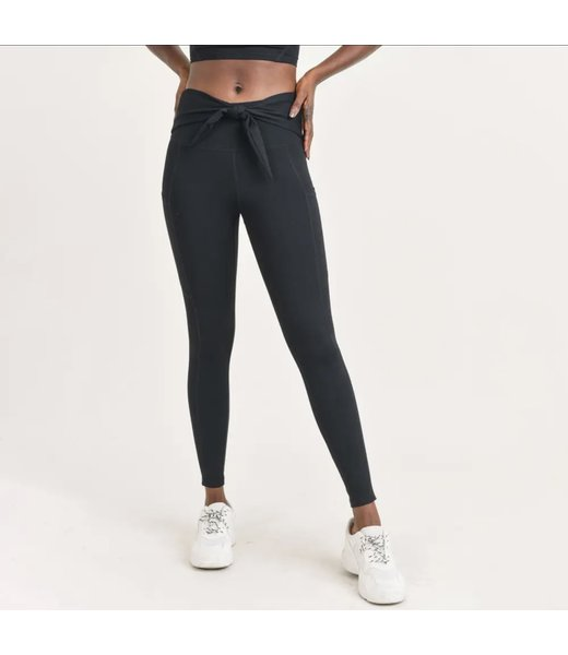 Natty Grace Tatum Tie Front Highwaist Leggings