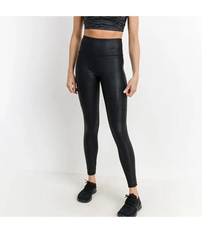 Natty Grace Track Star Quality Foil Highwaist Leggings
