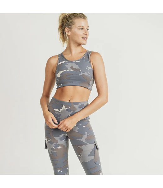 Natty Grace You Can't See Me Camo Sports Bra