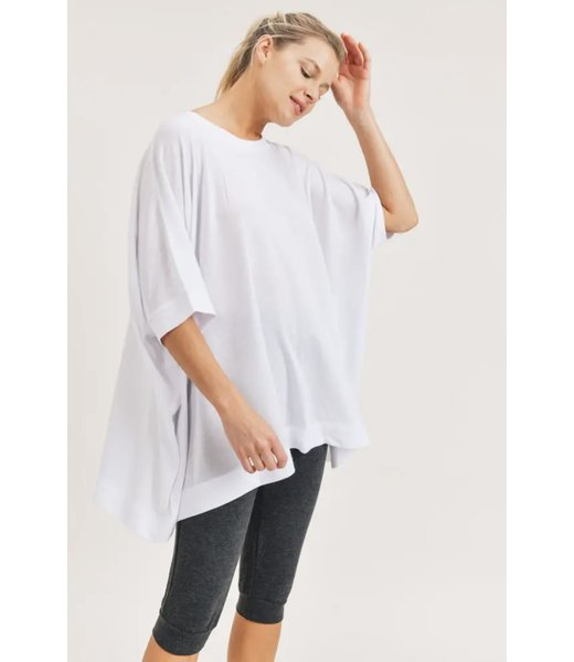 Natty Grace No Boundaries Mid Sleeve Cape Shirt