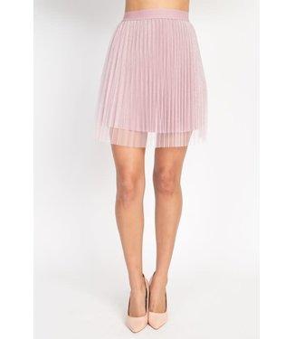 Natty Grace Pixie Dust Gliter Embedded Pleated Skirt