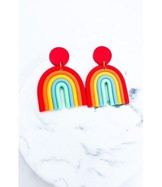 Natty Grace Rainbow Bliss Clay Earrings