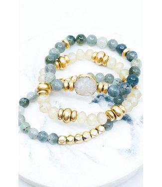 Natty Grace More To Love Stone Bracelet Set