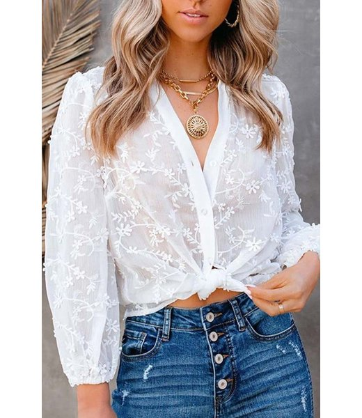 Natty Grace Nothing To Prove Floral Lace Top