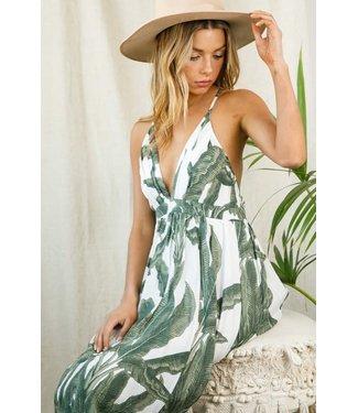 Natty Grace Pretty In Paradise Palm Print Dress