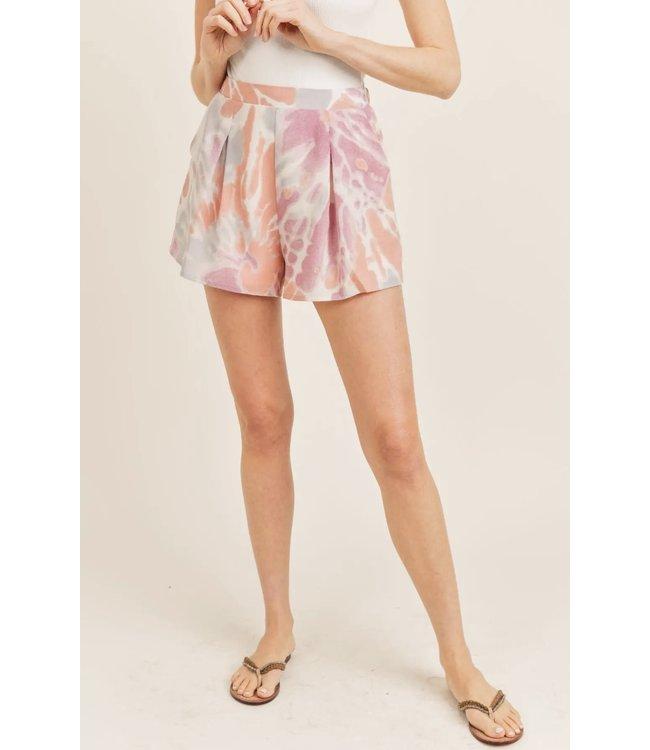 Natty Grace Sweet Like Cotton Candy Pleated Shorts