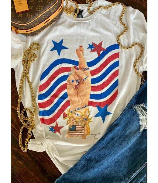 "Natty Grace Designer Inspired ""USA"" Tee"