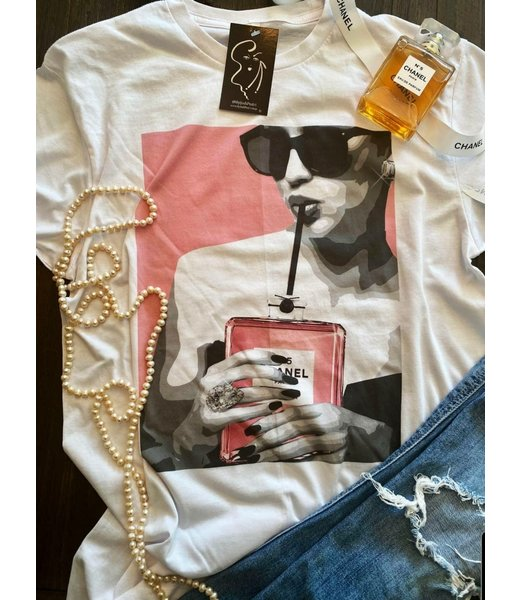"Natty Grace Designer Inspired ""Sip Sip Pink""Tee"