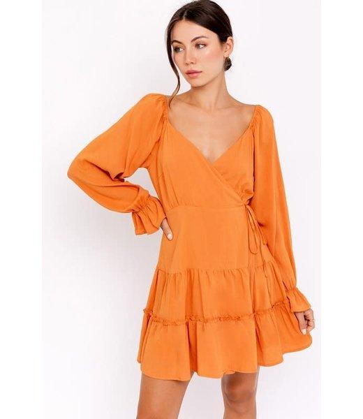 Natty Grace Golden Hour Wrap Dress