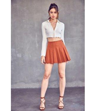 Natty Grace I don't Play Tennis - Pleated Mini Skirt