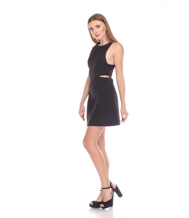 Natty Grace Date Night Little Black Dress with Cutouts