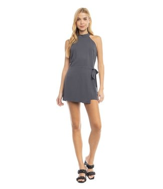 Natty Grace Stay In Your Lane Halter Top Romper