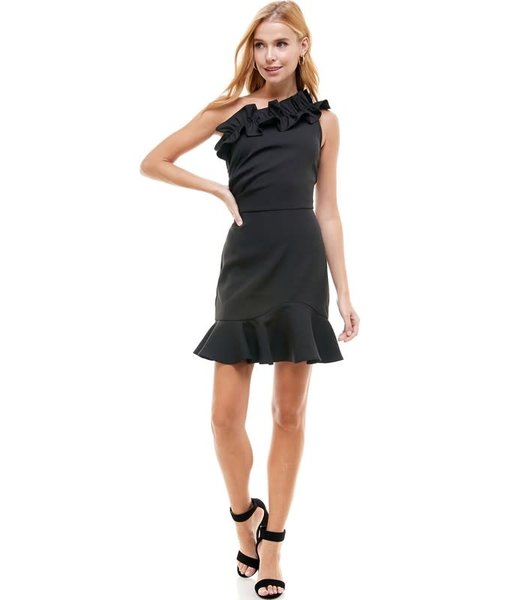 Natty Grace Life Of The Party Ruffle One Shoulder Dress
