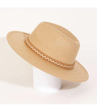 Natty Grace Jezebel Faux Leather Strap Fashion Hat
