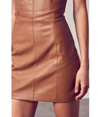Natty Grace Simply A Lady Faux Leather Skirt