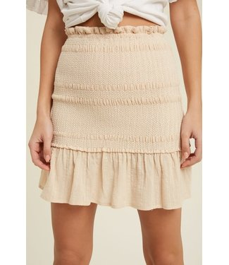 Natty Grace Sunday Morning Smocked Mini Skirt