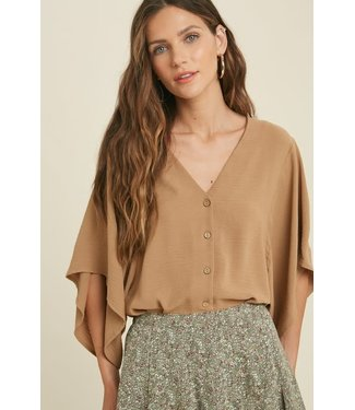 Natty Grace Kelly Kimono Sleeve Blouse