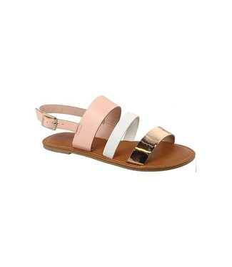 Three Tone Strappy Sandals
